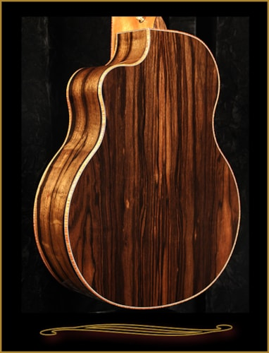 2016 McPherson MG-4.5XP 12 String in Striped Macassar Ebony with Port Orfor Natural, Brand New, Hard