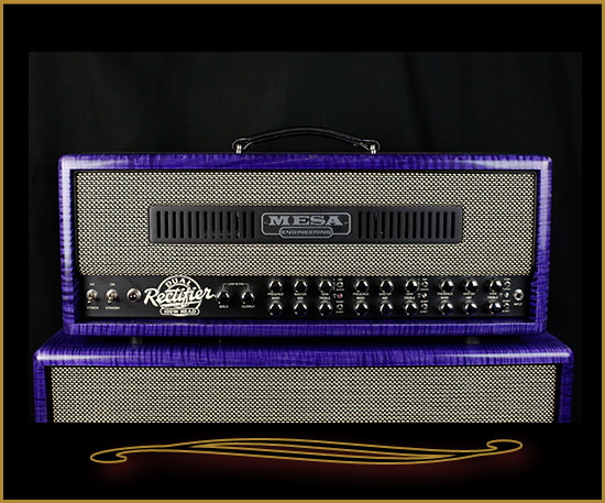 2016 Mesa Boogie Private Reserve Dual Rectifier Head and 2x12 Cabinet Transparent Purple, Brand New