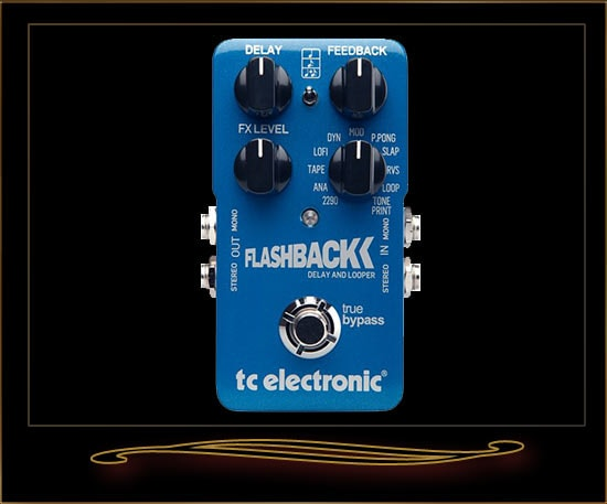 2016 TC Electronic Flashback Delay Pedal Blue, Brand New