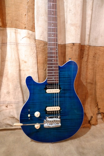 2017 Ernie Ball Musicman Axis Super Sport  Trans Blue, Near Mint, Original Hard
