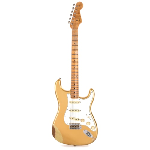 Fender Custom Shop 2017 Collection Stratocaster Relic Aztec Gold/Gold Sparkle Bottom (Serial #CZ539440)