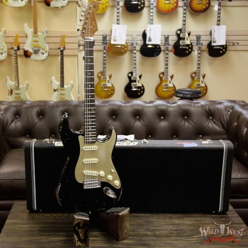 2017 Fender 2017 NAMM Fender Custom Shop 30th Anniversary LTD 1960 Roasted Stratocaster Relic Aged Black Aged Black, Brand New, $3,999.00