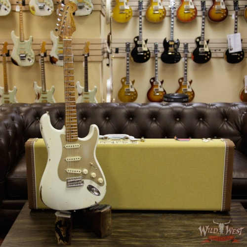 2017 Fender 2017 NAMM Fender Custom Shop 30th Anniversary LTD 1956 Roasted Stratocaster Relic Aged Olympic White Aged Olympic White, Brand New, $3,999.00