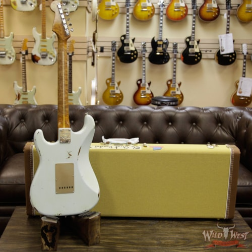 2017 Fender 2017 NAMM Fender Custom Shop 30th Anniversary LTD 1956 Roasted Stratocaster Relic Faded Sonic Blue Faded Sonic Blue, Brand New, $3,999.00