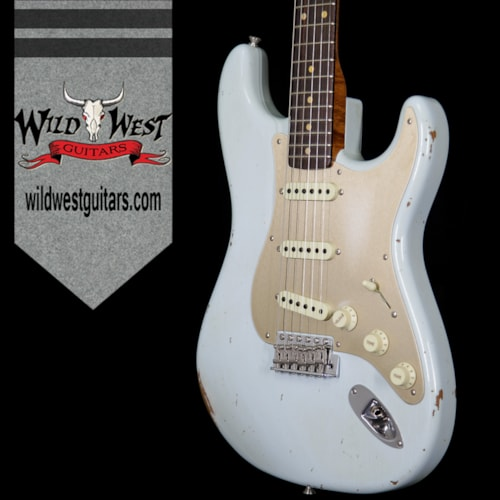 2017 Fender 2017 NAMM Fender Custom Shop 30th Anniversary LTD 1960 Roasted Stratocaster Relic Faded Sonic Blue Faded Sonic Blue, Brand New, $3,999.00