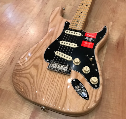 2017 Fender American Professional Stratocaster Electric Guitar Natural, Brand New, Hard, $1,499.99
