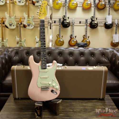 2017 Fender Custom Shop 1963 Stratocaster Relic Rosewood Fretboard Shell Pink Shell Pink, Brand New, $3,499.00