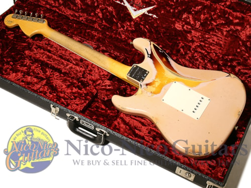 2017 Fender Custom Shop 1967 Stratocaster Heavy Relic Shell Pink /Sunburst