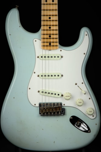 2017 Fender Custom Shop 1969 Journeyman Relic Stratocaster - Aged Faded Sonic Blue (1969 reissue)