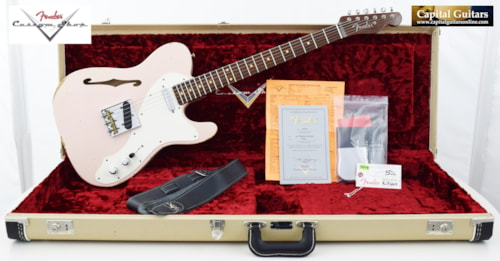 2017 Fender Custom Shop 50's Telecaster Thinline Relic  Faded Shell Pink