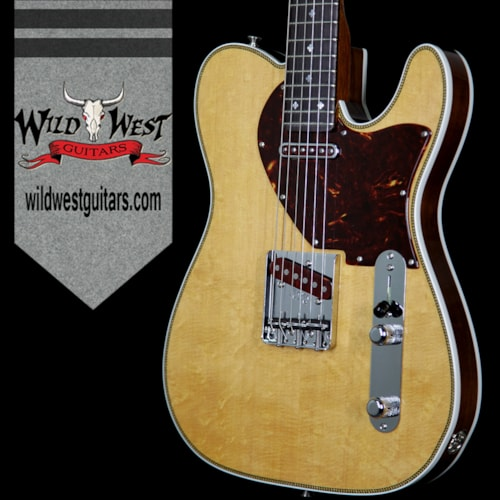 2017 Fender Custom Shop Fred Stuart Founders Series Design Herringbone Telecaster African Blackwood Board Natural, Brand New, $7,995.00