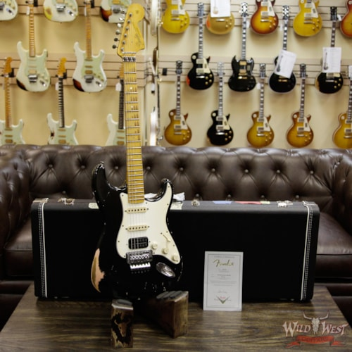 2017 Fender Custom Shop Masterbuilt 1966 Stratocaster Floyd Rose Relic Black Over Shell Pink by John Cruz Black over Shell Pink, Brand New, $8,899.00