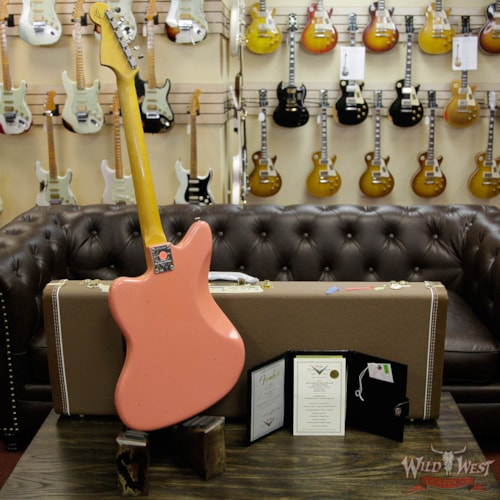 2017 Fender® Custom Shop Super Faded 60s Jazzmaster™ Journeyman Relic® Rosewood (1962 Reissue) Aged Fiesta Red, Brand New, Original Hard