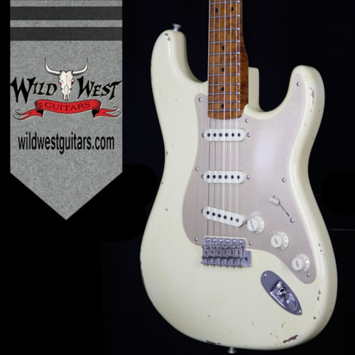 2017 Fender NAMM Fender Custom Shop 30th Anniversary LTD 1956 Roasted Stratocaster Relic Aged Vintage White Aged Vintage White, Brand New, $3,999.00