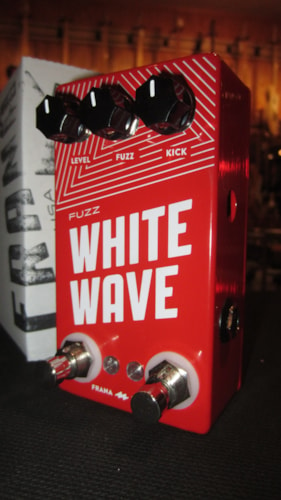 2017 Frana Pedals White Wave Fuzz Red, Brand New, $179.00