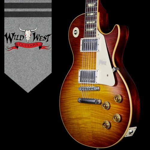 2017 Gibson Custom Shop 2018 CES Gibson Custom Shop Standard Historic 1959 Les Paul Standard VOS Brazilian Rosewood Board Tequila Sunrise  8.35 Lbs Tequila Sunrise, Brand New, $13,250.00