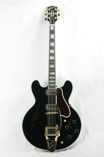 2017 Gibson ES-355 EBONY BLACK Gloss Limited Edition! Gold Bigsby! Memphis 335 345 Excellent $2,999.00