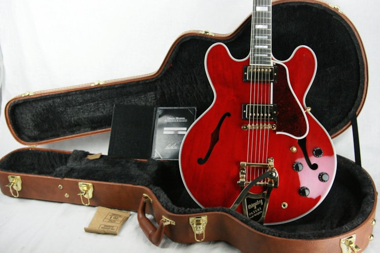 2017 Gibson ES-355 VOS 60's CHERRY! Gold Bigsby! Memphis 335 345 Excellent $3,499.00