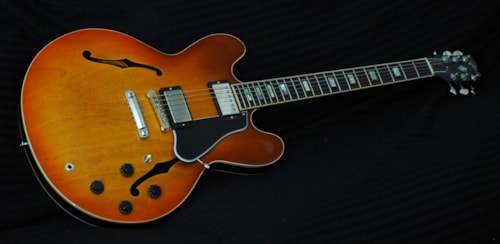 2017 Gibson Memphis ES-335 Light Faded Burst, Mint, Hard, $2,795.00
