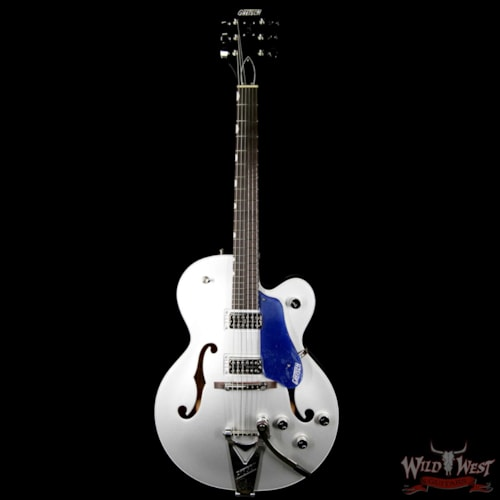 2017 Gretsch G6118T Players Edition w/ Bigsby Filter Tron Pickups 2 Tone Iridium Silver/Azure Metallic Iridium Silver/Azure Metallic, Brand New