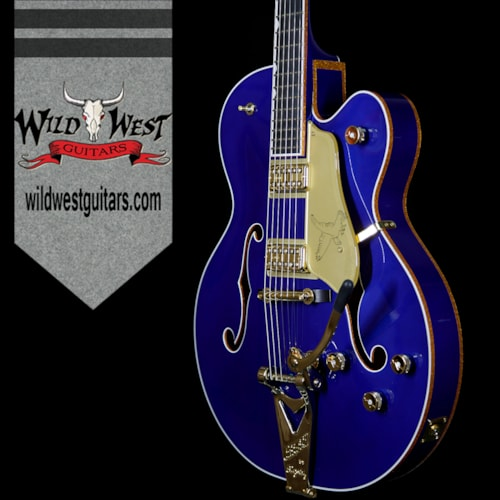 2017 Gretsch G6136T Limited Edition Falcon with String-Thru Bigsby Azure Metallic Azure Metallic, Brand New