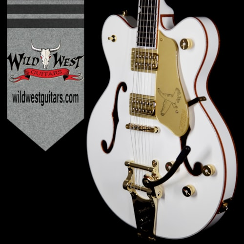 2017 Gretsch G6636T Player Edition Falcon Center Block Double-cut w/String-Thru Bigsby White White, Brand New, $3,499.00