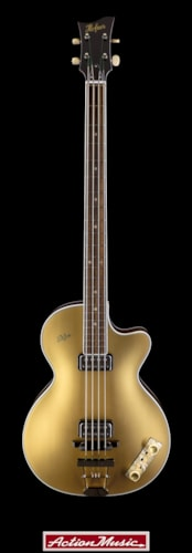 2017 Hofner Gold Label 500/2 Club Bass Gold Top, Brand New, Original Hard, $1,995.00