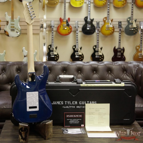 2017 James Tyler 2018 NAMM Studio Elite HD HSS w/ Midboost Preamp Alder Body Quilt Maple Top Transparent Blue Transparent Blue, Brand New