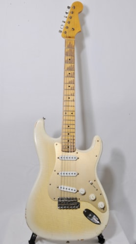 2017 Nacho Banos Stratocaster Trans-Blonde, Mint, $5,699.00