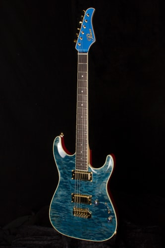 2017 Pensa Custom MK I Plus Trans Blue / Cherry, Brand New, Original Hard, $8,995.00