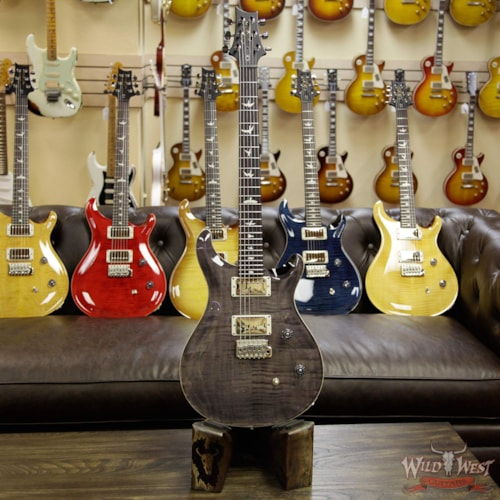 2017 PRS - Paul Reed Smith PRS Wild West Guitars Special Run CE 24 Flame Maple Top and 57/08 PU Grey Black 238348 Grey Black, Brand New