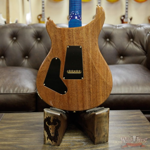 2017 PRS - Paul Reed Smith PRS Wood Library Flame 10 Top Custom 24 Aquamarine W/Stained Flame Neck and African Blackwood Board Aquamarine, Brand New, $4,655.00