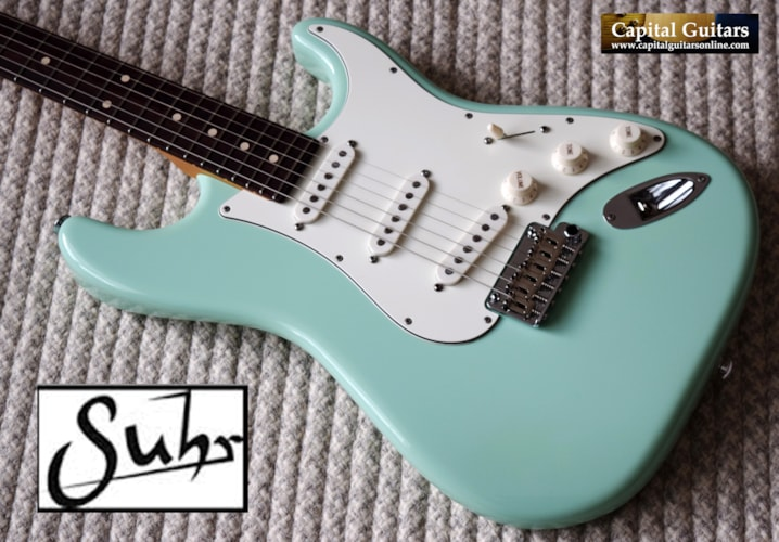 2017 Suhr Classic Custom Surf Green, Alder, '56 Big V, SSCII, Stainless Frets, Optional Humbucker