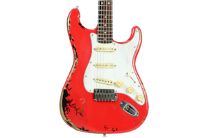 2018 10S ICC Relic Fiesta Red over 3-Tone Sunburst Electric Guitar (2018 Reissue)