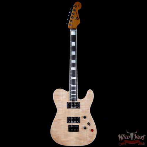 2018 Charvel Custom Shop WW002 Masterbuilt Red Dave Style 2 HH Flamed Maple Top Ebony Board Natural Natural, Brand New