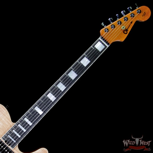 2018 Charvel Custom Shop WW002 Masterbuilt Red Dave Style 2 HH Flamed Maple Top Ebony Board Natural Natural, Brand New, $6,199.00