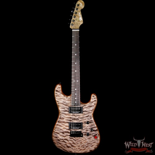 2018 Charvel USA Custom Shop WW005 Masterbuilt Red Dave San Dimas HH Quiltd Maple Top Birdseye Neck Trans Charcoal Trans Charcoal, Brand New