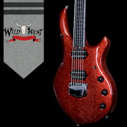 2018 Ernie Ball Music Man BFR Limited Edition #87 of 105 John Petrucci Signed Majesty Cinnabar Red