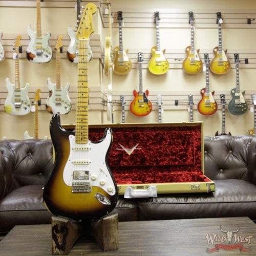 2018 Fender Custom Shop 1958 Stratocaster HSS EVH Pickup Relic Maple Neck 2 Tone Sunburst 2 Tone Sunburst, Brand New