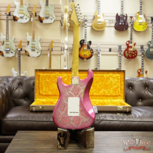 2018 Fender Custom Shop 1963 Stratocaster Relic Rosewood Fingerboard Pink Paisley Pink Paisley
