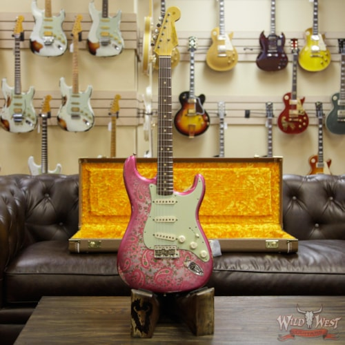 2018 Fender Custom Shop 1963 Stratocaster Relic Rosewood Fingerboard Pink Paisley Pink Paisley, Brand New