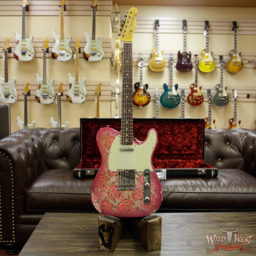 2018 Fender Custom Shop 1963 Telecaster Relic Rosewood Fingerboard Pink Paisley Pink Paisley, Brand New