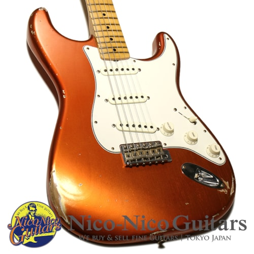 2018 Fender Custom Shop 1968 Stratocaster Relic Faded Aged Candy Apple Re