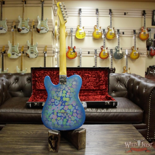 2018 Fender Custom Shop 2018 Fender Custom Shop 1963 Telecaster Relic Rosewood Fingerboard Blue Flower Blue Flower, Brand New