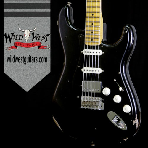 2018 Fender Custom Shop 2018 Fender Custom Shop 1958 Stratocaster Relic Maple Neck HSS EVH Pickup BLack Black, Brand New, $3,999.00
