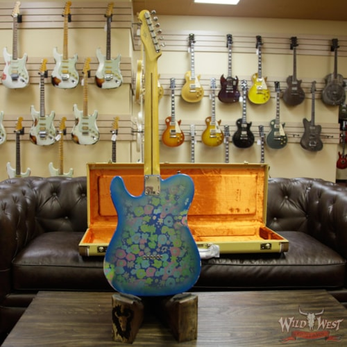 2018 Fender Custom Shop 2018 Fender Custom Shop 1952 Telecaster Relic Maple Neck Black Pickguard Blue Flower Blue Flower, Brand New