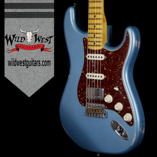 2018 Fender Custom Shop 2018 Fender Custom Shop 1958 Stratocaster HSS EVH Pickup Relic Maple Neck Blue Agave Blue Agave, Brand New