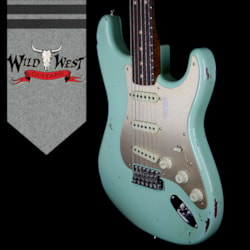 2018 Fender Custom Shop 30th Anniversary Roasted 1960 Stratocaster Relic Birdseye Neck Rosewood Board Aged Surf Green