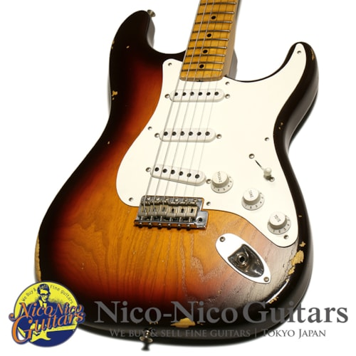 2018 Fender Custom Shop Ltd Vintage Custom 1955 Stratocaster Relic 3Tone Chocolate Sunburst