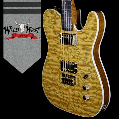2018 Fender Custom Shop Paul Waller Masterbuilt Artisan Tamo Ash Top & Back Telecaster HH African Bl